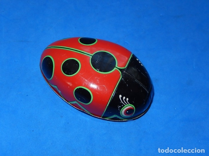 Juguetes antiguos de hojalata: Mariquita de hojalata. Fabricada en Japón. - Foto 4 - 175507103