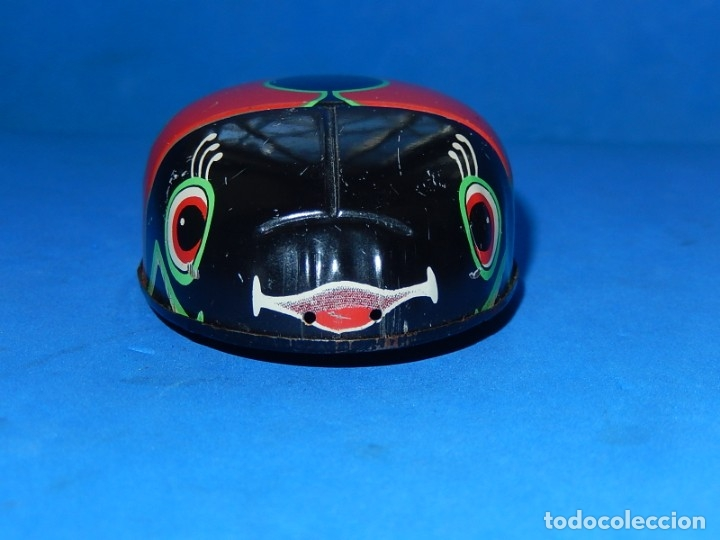 Juguetes antiguos de hojalata: Mariquita de hojalata. Fabricada en Japón. - Foto 6 - 175507103