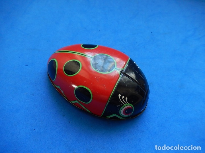 Juguetes antiguos de hojalata: Mariquita de hojalata. Fabricada en Japón. - Foto 8 - 175507103