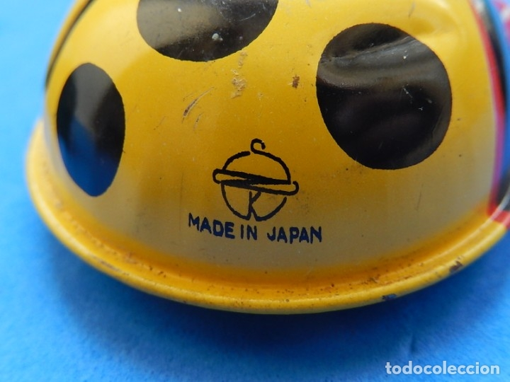 Juguetes antiguos de hojalata: Dos mariquitas de hojalata. Fabricadas en Japón. - Foto 6 - 175507443