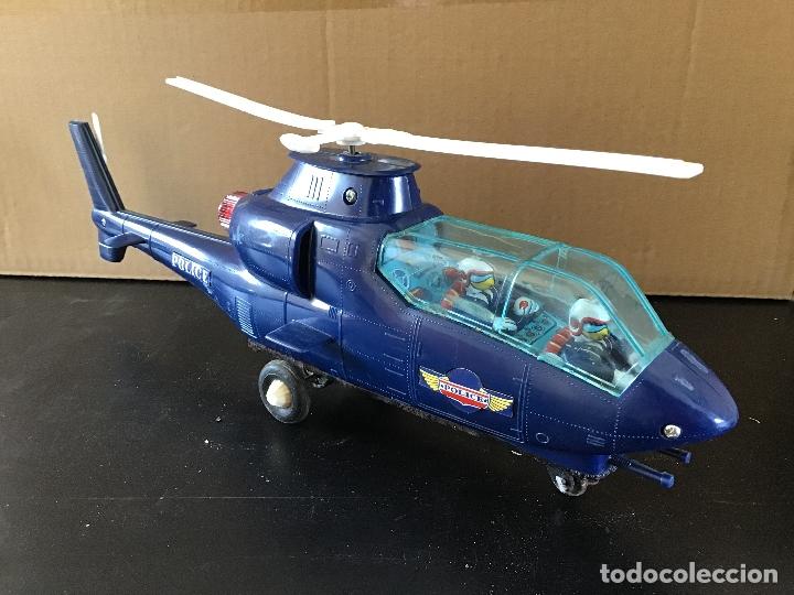 Juguetes antiguos de hojalata: Helicoptero policia made in Japan - Foto 2 - 175737304