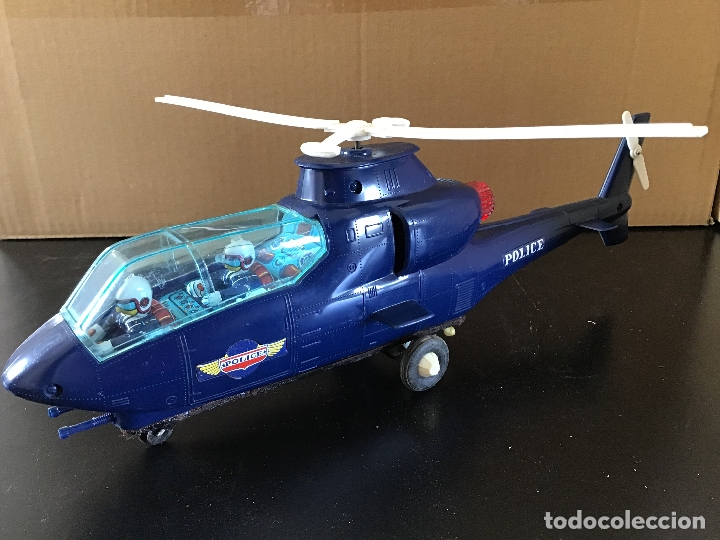 HELICOPTERO POLICIA MADE IN JAPAN (Juguetes - Juguetes Antiguos de Hojalata Extranjeros)