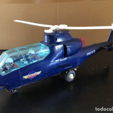 Juguetes antiguos de hojalata: HELICOPTERO POLICIA MADE IN JAPAN. Lote 175737304