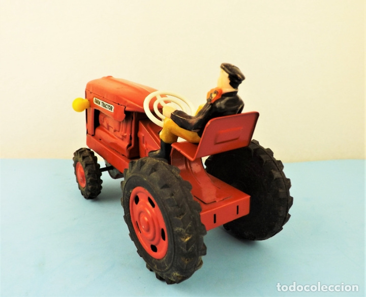 Juguetes antiguos de hojalata: Antiguo tractor made in Japan - Foto 7 - 176778604