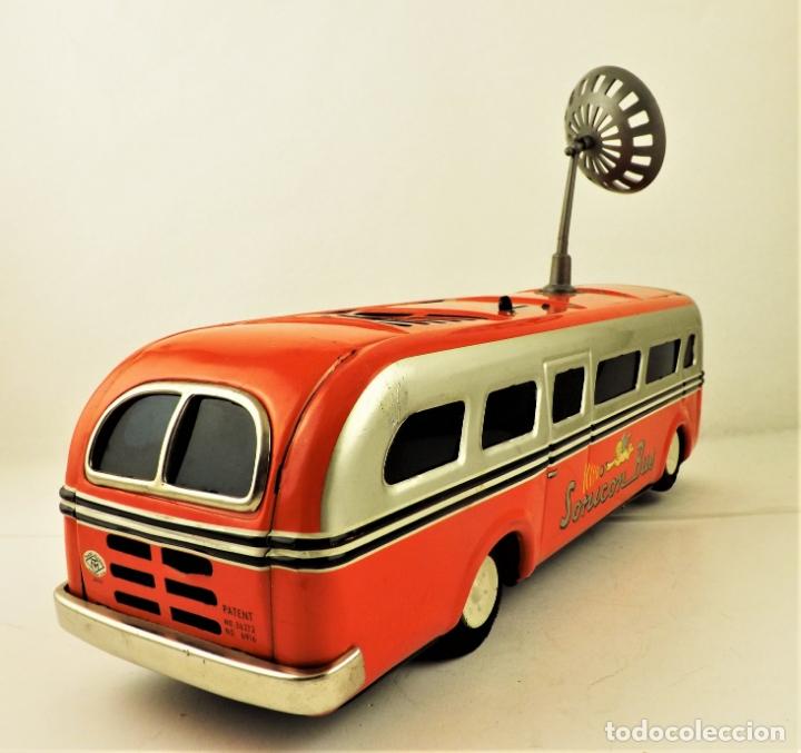 Juguetes antiguos de hojalata: Bus Sonicon Masudaya original - Foto 6 - 176778883