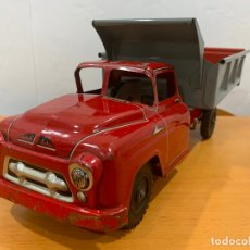 Juguetes antiguos de hojalata: CAMION VOLQUETE MARX TOYS USA WYANDOTTE TRUCK MECHANICAL ACTION HYDRAULIC. Lote 176967303
