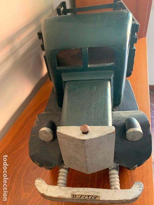 Juguetes antiguos de hojalata: CAMION MERCEDES L-6600 DE 1949 86 CMS MADERA DENIA BARCELONA - Foto 5 - 178111732