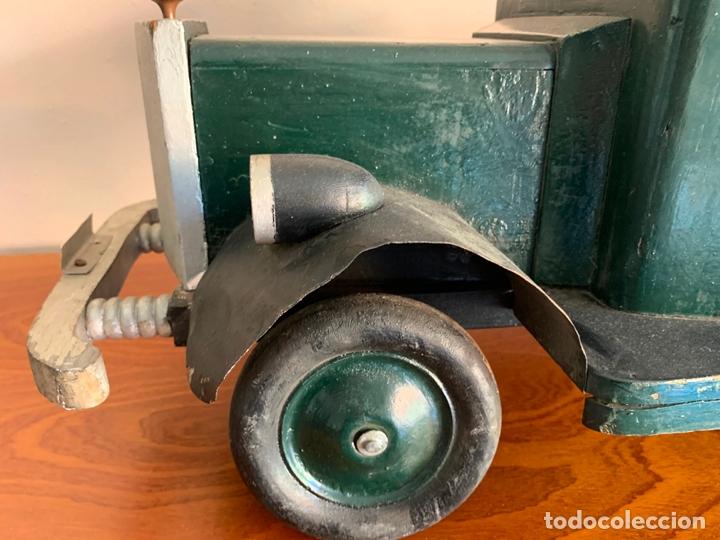 Juguetes antiguos de hojalata: CAMION MERCEDES L-6600 DE 1949 86 CMS MADERA DENIA BARCELONA - Foto 7 - 178111732