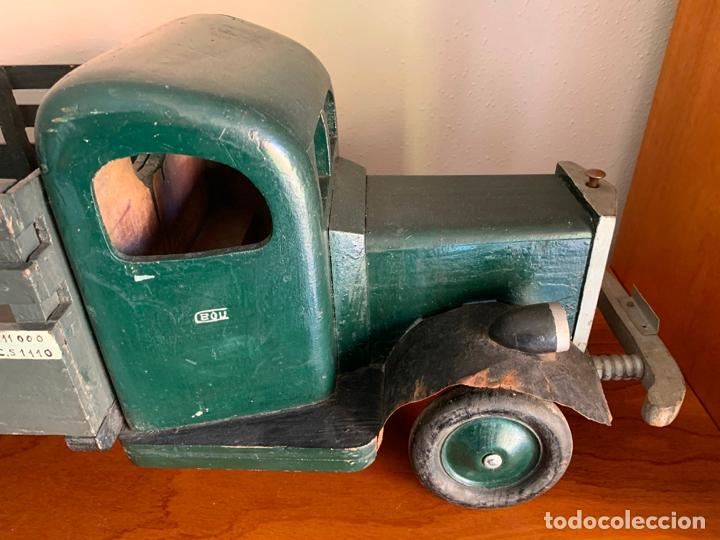 Juguetes antiguos de hojalata: CAMION MERCEDES L-6600 DE 1949 86 CMS MADERA DENIA BARCELONA - Foto 14 - 178111732