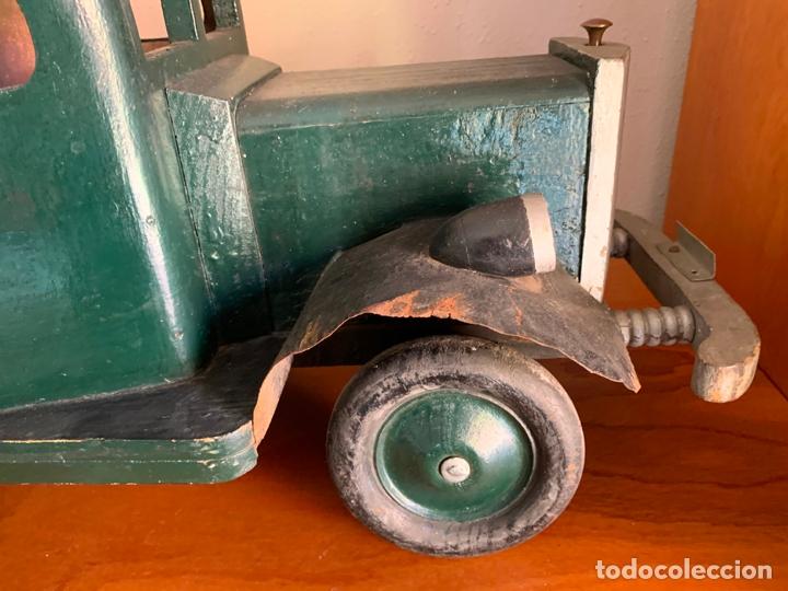 Juguetes antiguos de hojalata: CAMION MERCEDES L-6600 DE 1949 86 CMS MADERA DENIA BARCELONA - Foto 15 - 178111732