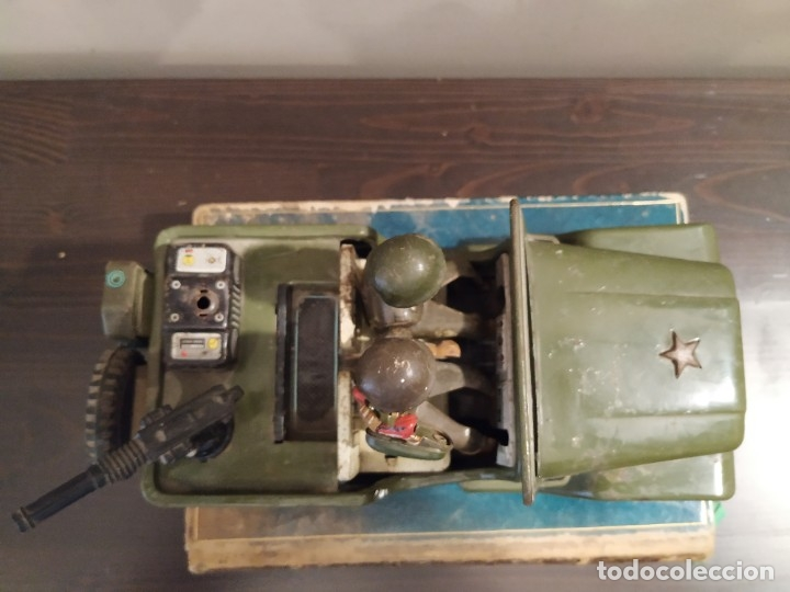 Juguetes antiguos de hojalata: JEEP RADIO - NOMURA JAPAN - Foto 5 - 178302365
