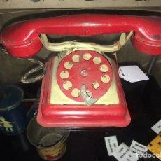 Juguetes antiguos de hojalata: TELEFONO DE HOJALATA DE RICO. NO PAYA NO JYESA. Lote 179058625