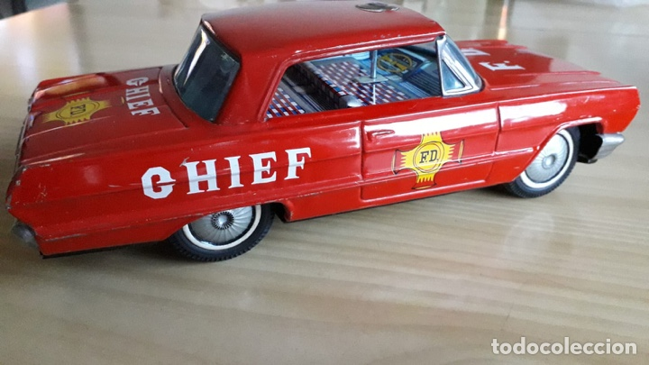 Juguetes antiguos de hojalata: COCHE JEFE BOMBEROS ICHIKO MADE IN JAPAN - Foto 1 - 179335570