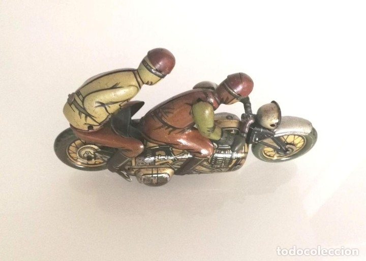 Juguetes antiguos de hojalata: Antigua moto alemana a cuerda CKO KELLERMANN, SOCIUS 353. Buen estado. Funcionamiento perfecto. - Foto 6 - 180251175