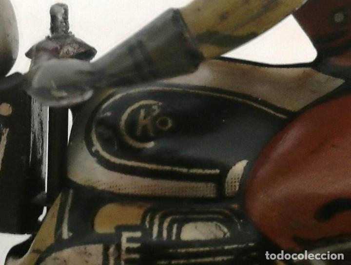 Juguetes antiguos de hojalata: Antigua moto alemana a cuerda CKO KELLERMANN, SOCIUS 353. Buen estado. Funcionamiento perfecto. - Foto 9 - 180251175