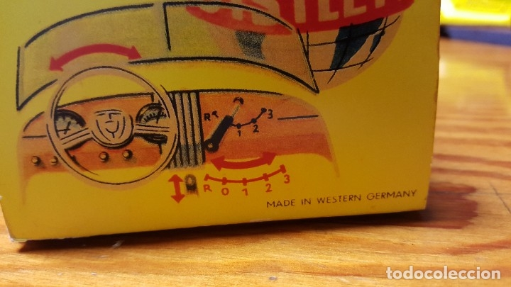 Juguetes antiguos de hojalata: DISTLER MERCEDES BENZ B-2727 CABRIO ORIGINAL DE 1950. CAJA REPROBOX. FUNCIONA CORRECTAMENTE. - Foto 21 - 180268030