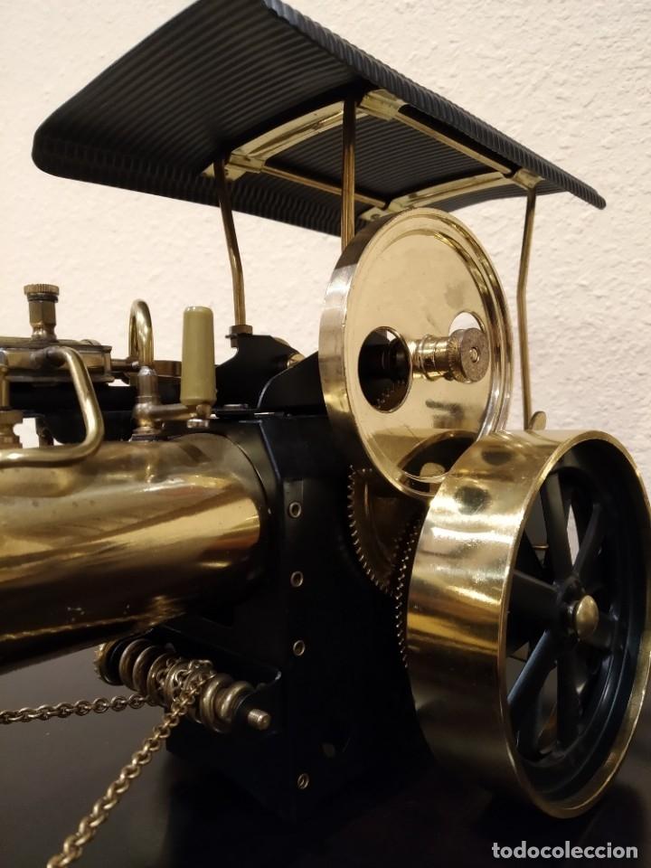 Juguetes antiguos de hojalata: APISONADORA A VAPOR OLD SMOKY D366 + CARRO REMOLQUE DE AGUA A386 -WILESCO- - Foto 3 - 181006782