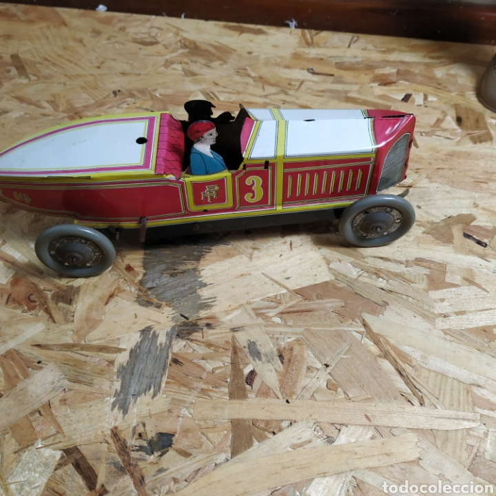 Juguetes antiguos de hojalata: 2 coches históricos de paya - Foto 14 - 182175925