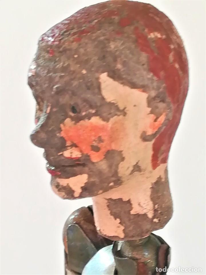 Juguetes antiguos de hojalata: ANTIGUO JUGUETE MUÑECO SUIZO,AÑO 1920,ARTICULADO,RESORTES METALICOS,SABA BUCHERER,EL PRIMER MADELMAN - Foto 8 - 182255977
