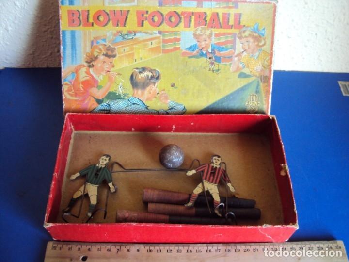 (JU-191110)BLOW FOOTBALL - MADE IN ENGLAND (Juguetes - Juguetes Antiguos de Hojalata Extranjeros)