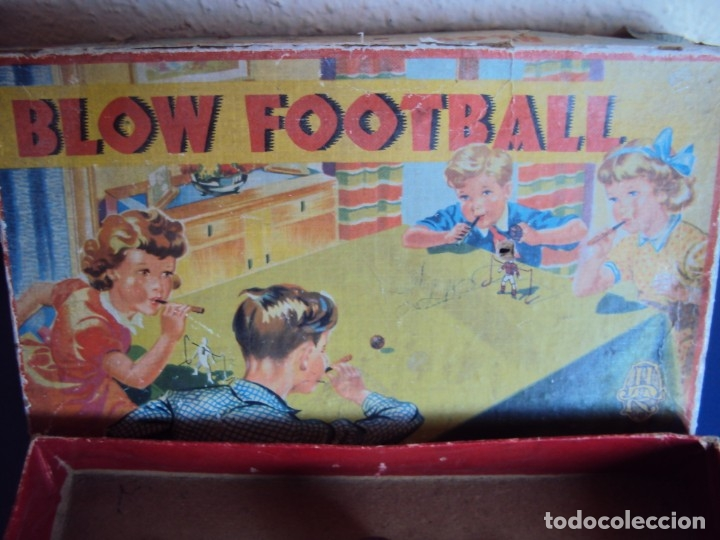 Juguetes antiguos de hojalata: (JU-191110)BLOW FOOTBALL - MADE IN ENGLAND - Foto 2 - 182571396