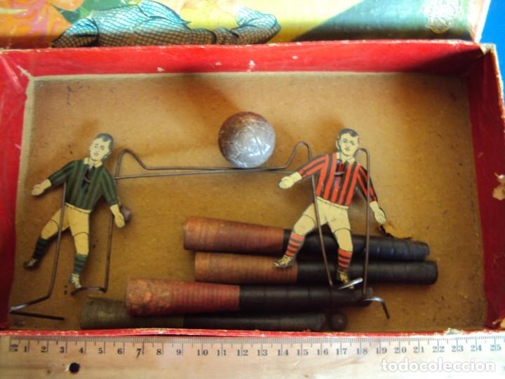 Juguetes antiguos de hojalata: (JU-191110)BLOW FOOTBALL - MADE IN ENGLAND - Foto 3 - 182571396
