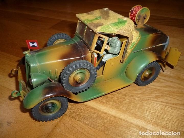 Juguetes antiguos de hojalata: Hausser Elastolin coche vehículo militar de hojalata original años 30 transmisiones no Lineol - Foto 4 - 182572468