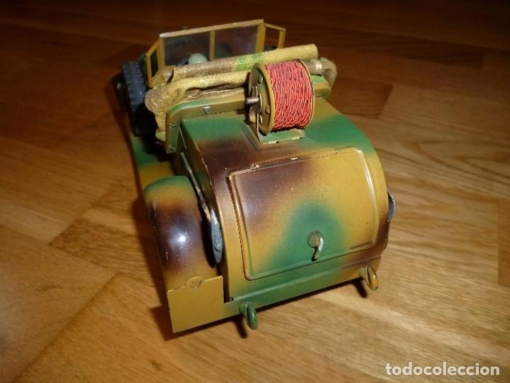Juguetes antiguos de hojalata: Hausser Elastolin coche vehículo militar de hojalata original años 30 transmisiones no Lineol - Foto 5 - 182572468