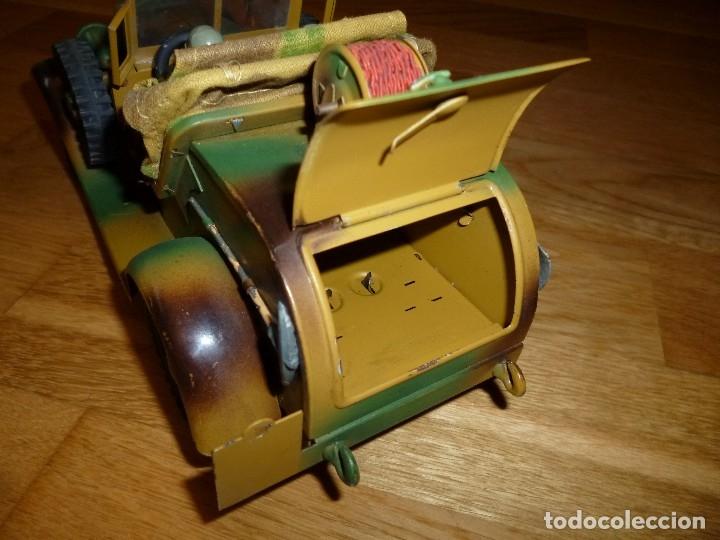 Juguetes antiguos de hojalata: Hausser Elastolin coche vehículo militar de hojalata original años 30 transmisiones no Lineol - Foto 6 - 182572468