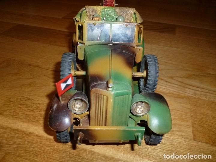 Juguetes antiguos de hojalata: Hausser Elastolin coche vehículo militar de hojalata original años 30 transmisiones no Lineol - Foto 7 - 182572468