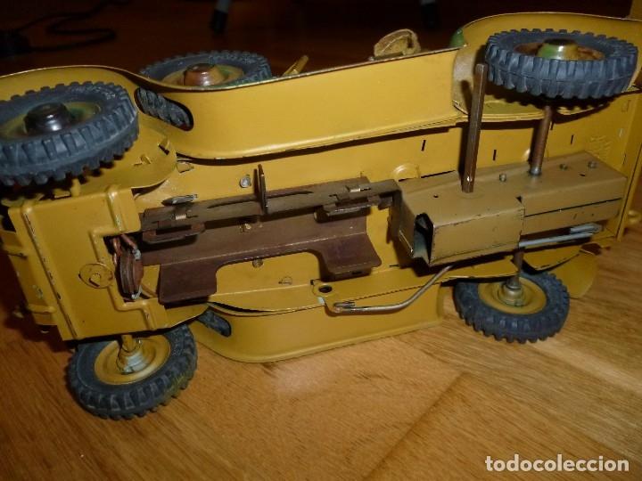 Juguetes antiguos de hojalata: Hausser Elastolin coche vehículo militar de hojalata original años 30 transmisiones no Lineol - Foto 8 - 182572468