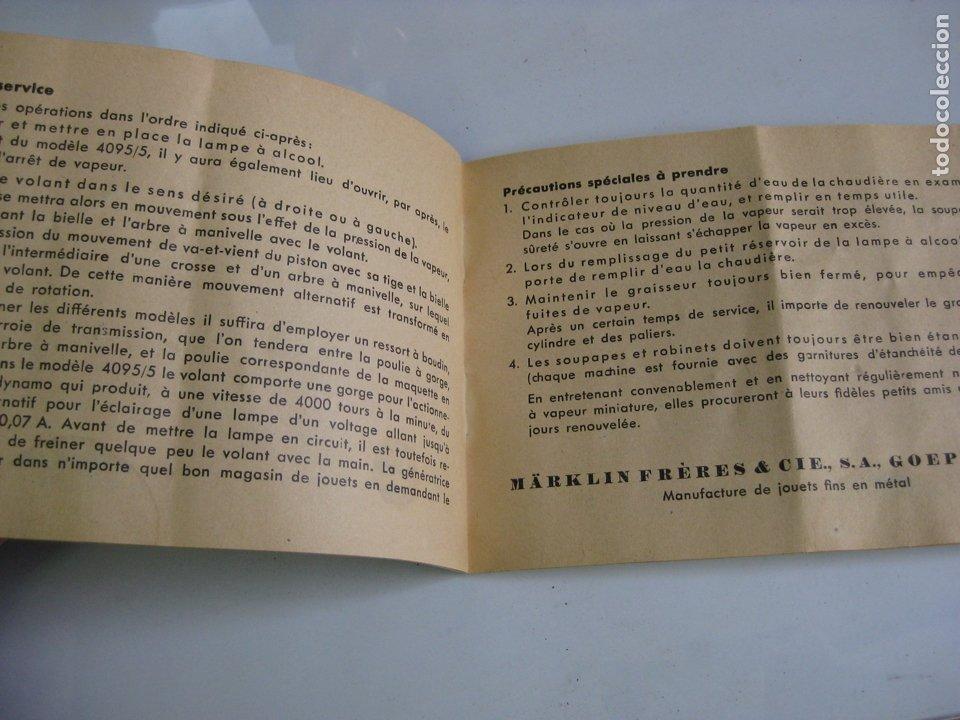 Juguetes antiguos de hojalata: PLANTA DE VAPOR MARKLIN Nº 4095 - MANUAL INSTRUCCIONES - Foto 16 - 182587073