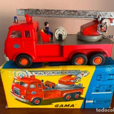 Jouets anciens en fer-blanc: GAMA CAMION DAF BOMBEROS ELECTRICO. Lote 182782828