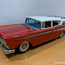 Juguetes antiguos de hojalata: BANDAI TIN TOY CAR RAMBLER RANCHERA MADE IN JAPAN. Lote 183018173