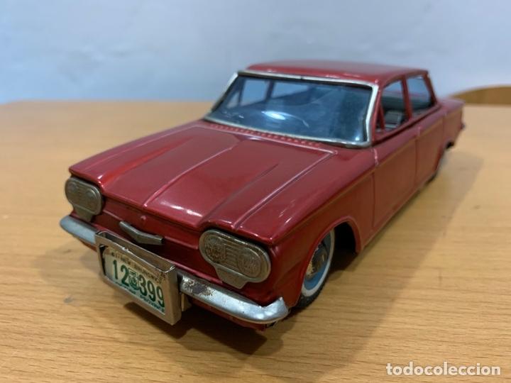 BANDAI CHEVROLET CORVAIR 1961 TIN TOY CAR MADE IN JAPAN (Juguetes - Juguetes Antiguos de Hojalata Extranjeros)