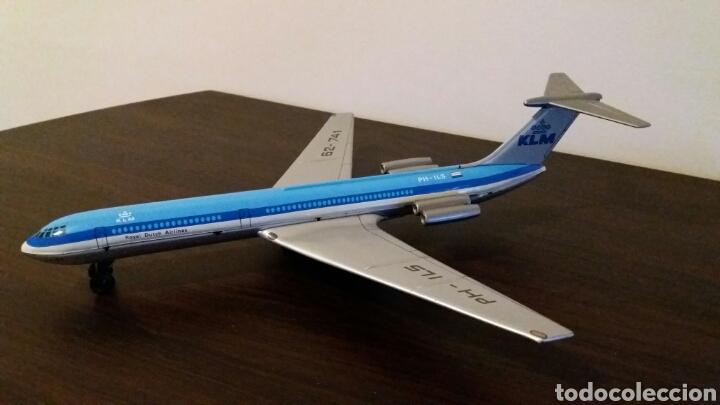 ANTIGUO AVIÓN A FRICCIÓN INTERNATIONAL KLM (Juguetes - Juguetes Antiguos de Hojalata Extranjeros)