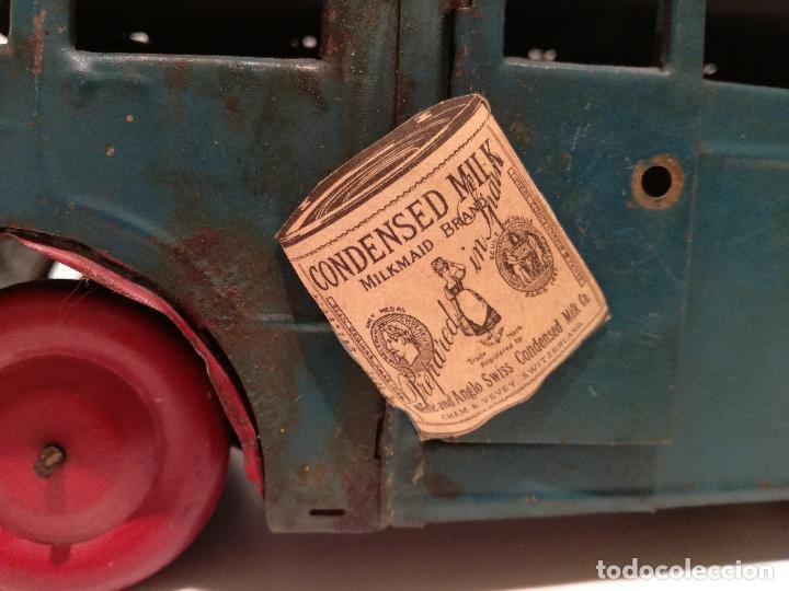Juguetes antiguos de hojalata: PRECIOSO AUTOCAR FRANCES A CUERDA - FUNCIONANDO - JUGUETE ANTIGUO DE HOJALATA - Foto 6 - 183092530