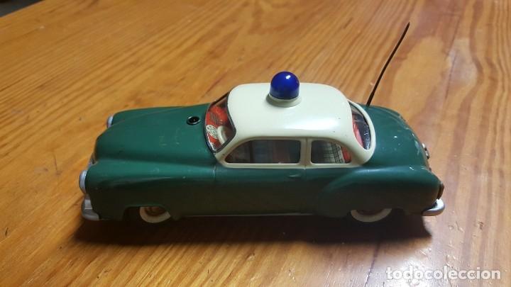 ANTIGUO COCHE SCHUCO 5340 ELECTRO ALARM CAR - MADE IN WESTERN GERMANY - FUNCIONA CORRECTAMENTE. (Juguetes - Juguetes Antiguos de Hojalata Extranjeros)