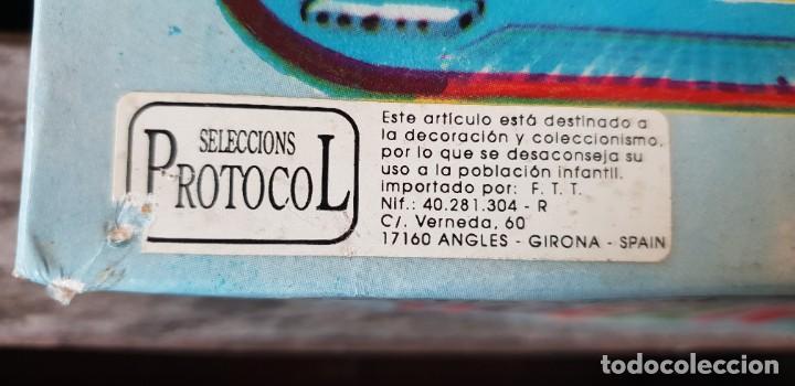 Juguetes antiguos de hojalata: CIRCUITO DE HOJALATA (LATA) MECHANICAL MODERN TRAIN EN SU CAJA ORIGINAL A CUERDA. FUNCIONA OK. - Foto 5 - 183779042