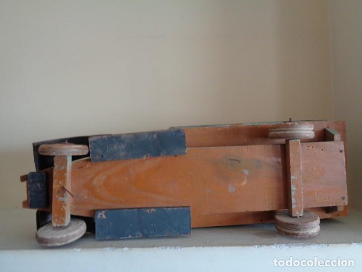 Juguetes antiguos de hojalata: CAMION DE MADERA CON TOLDO.DENIA - Foto 3 - 183827527