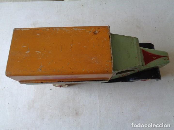 Juguetes antiguos de hojalata: CAMION DE MADERA CON TOLDO.DENIA - Foto 4 - 183827527