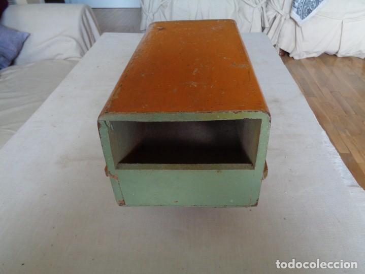 Juguetes antiguos de hojalata: CAMION DE MADERA CON TOLDO.DENIA - Foto 5 - 183827527