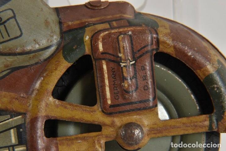 Juguetes antiguos de hojalata: ANTIGUA RARISIMA ARNOLD ESCASA MOTO HOJALATA CUERDA 1º GUERRA MUNDIAL ALEMANIA FIRMADA VER FOTOS - Foto 3 - 184810143