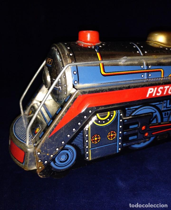 Juguetes antiguos de hojalata: Tren de Holata Expresso Piston Silver Mountain - Foto 2 - 186150103