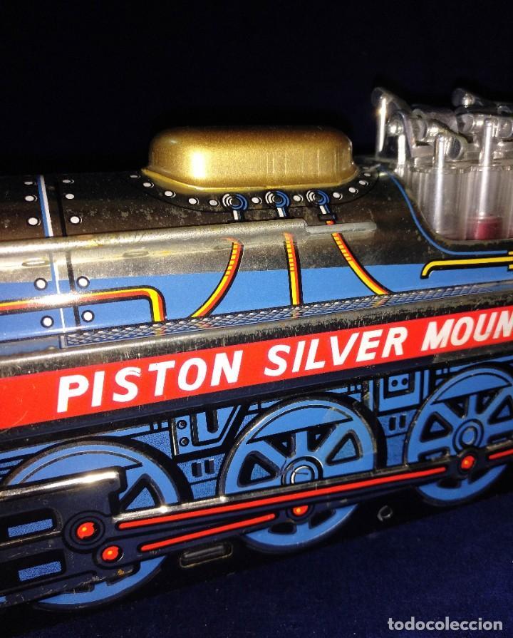 Juguetes antiguos de hojalata: Tren de Holata Expresso Piston Silver Mountain - Foto 3 - 186150103