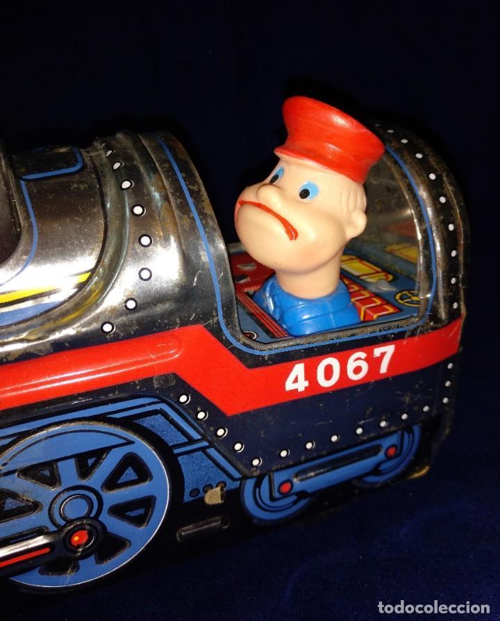 Juguetes antiguos de hojalata: Tren de Holata Expresso Piston Silver Mountain - Foto 4 - 186150103