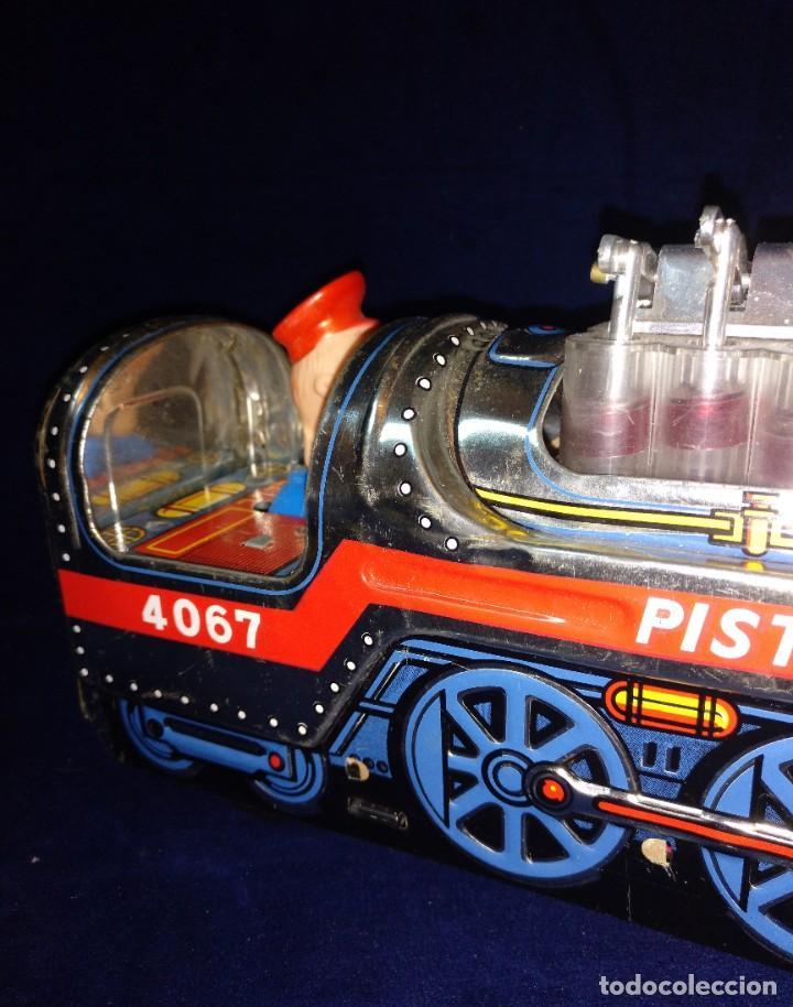 Juguetes antiguos de hojalata: Tren de Holata Expresso Piston Silver Mountain - Foto 6 - 186150103