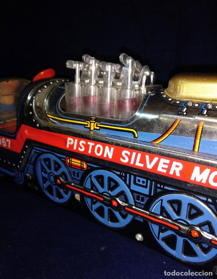 Juguetes antiguos de hojalata: Tren de Holata Expresso Piston Silver Mountain - Foto 7 - 186150103