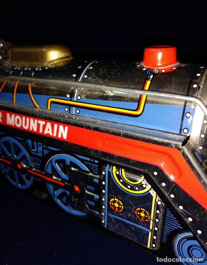 Juguetes antiguos de hojalata: Tren de Holata Expresso Piston Silver Mountain - Foto 8 - 186150103