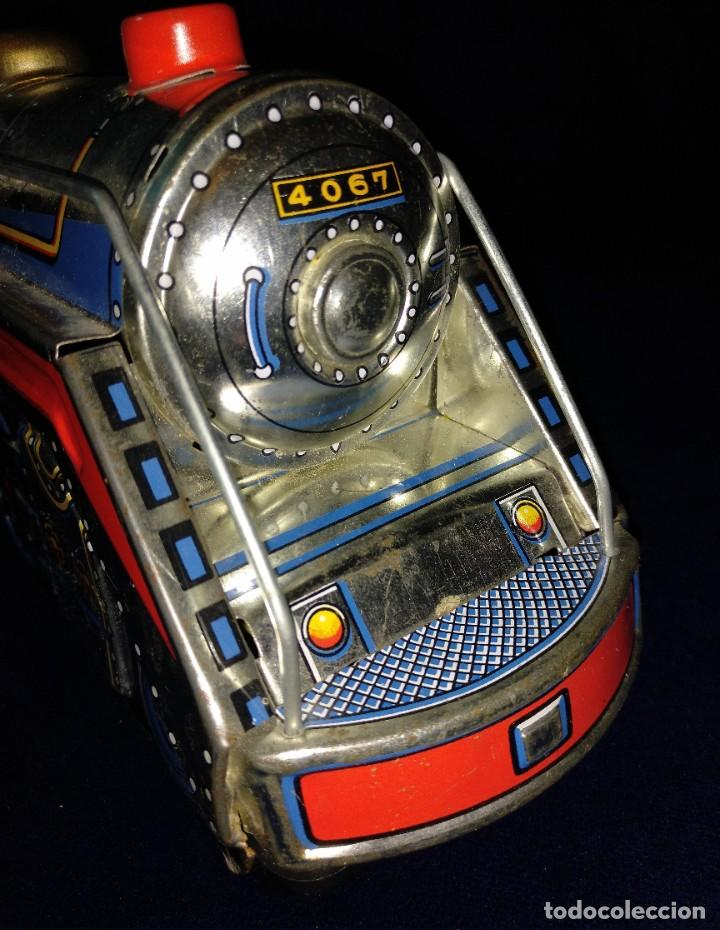 Juguetes antiguos de hojalata: Tren de Holata Expresso Piston Silver Mountain - Foto 9 - 186150103